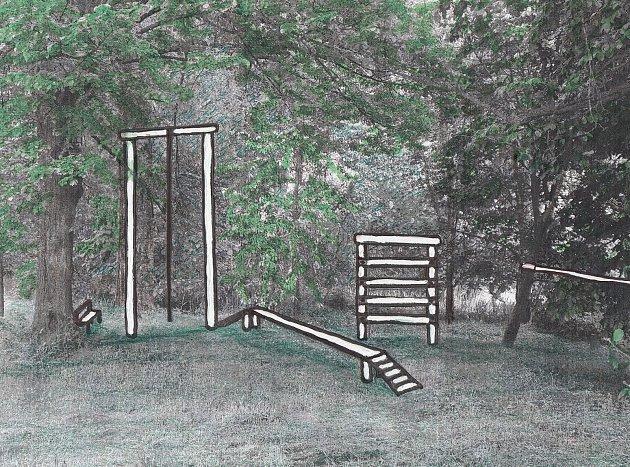 Tréninkové, posilovací a překážkové hřiště vKališti.