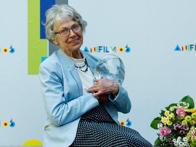 V Třeboni začal 5. května Anifilm, mezinárodní festival animovaných filmů. Na snímku Vlasta Pospíšilová, animátorka a režisérka, která na Anifilmu převzala cenu za celoživotní dílo.