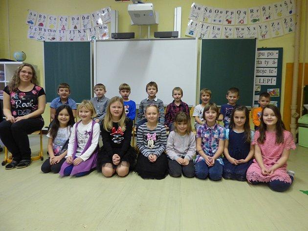 Prvňáci ze Základní školy Strýčice.