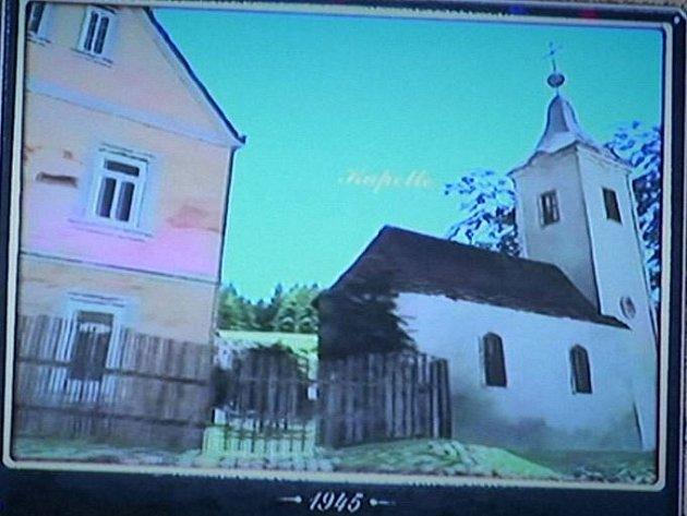 Vesnice Romava ve filmu ožije. Umožní to vizualizace vytvořená podle vzpomínek pamětníků. Na snímku podoba kaple.