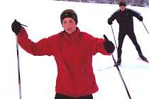 O Vánocích se Lucie Sekanová připravovala také na běžkách.
