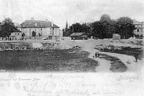 Krumlovský rybník kolem roku 1900.