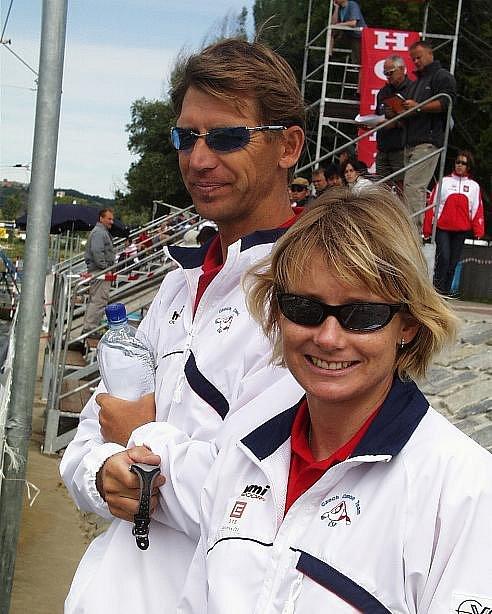 Olympijská vítězka Štěpánka Hilgertová s manželem Lubošem