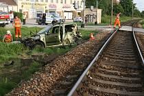 Nehoda u Hrdějovic.