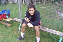 LÉTO. David Juračka se na kurtech Meteoru rozloučil s volejbalovým létem.