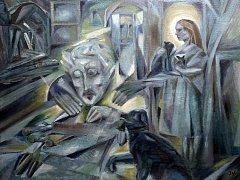 Egon Schiele Art Centrum v Českém Krumlově otevřelo pět výstav pod názvem Mysterium Šumava. Hlavní expozice představuje dílo Josefa Váchala (1884 - 1969). Na snímku olejomalba Dřevorytcova domácnost, roky 1919 – 1921.