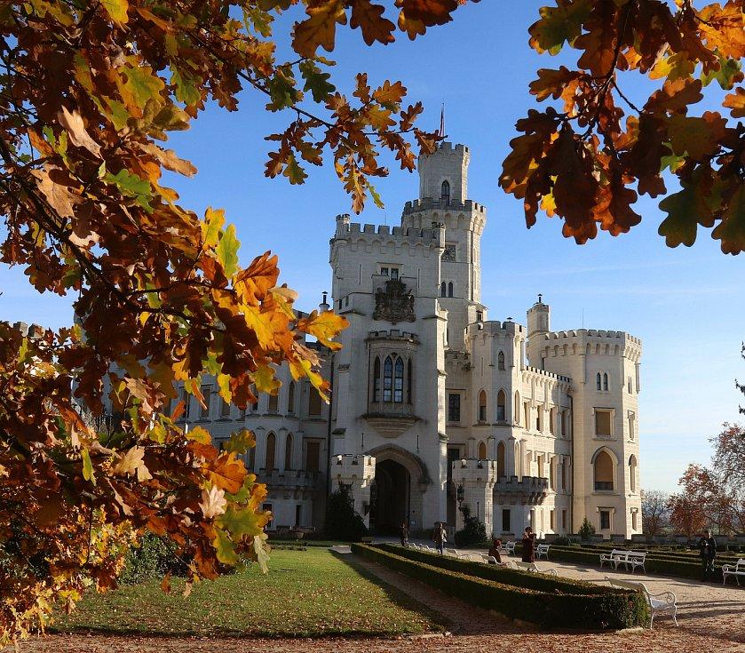 Podzim na zámku Hluboká nad Vltavou
