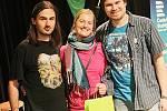 Jihočeské kolo festivalu Porta se odehrálo 21. března v Českém rozhlase České Budějovice. Na snímku skupina Za Sluncem z Tábora.