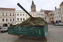 Tank na českobudějovickém náměstí