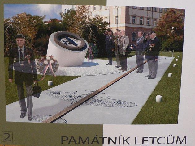 Kompas a vzletová dráha (na snímku) by podle Vladimíra Vopaleckého lépe než vítězný návrh odpovídaly vkusu letců, s nimiž záležitost vznikajícího pomníku konzultoval.