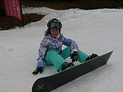 Kemp Evy Samkové u Lipna, podívejte se jak to snowboardistům jede