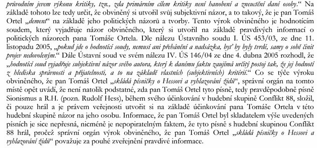 Screen Twitteru Tomáše Kučery - Výňatek rozhodnutí.