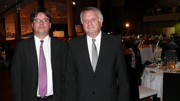 Tomáš Scheichl (vlevo) a Zdeněk Scheichl se zúčastnili losu ve Vídni