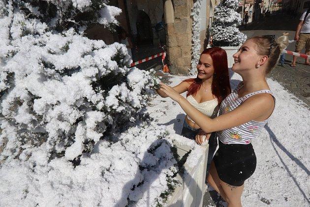 Vánoční stromečky na českobudějovickém náměstí