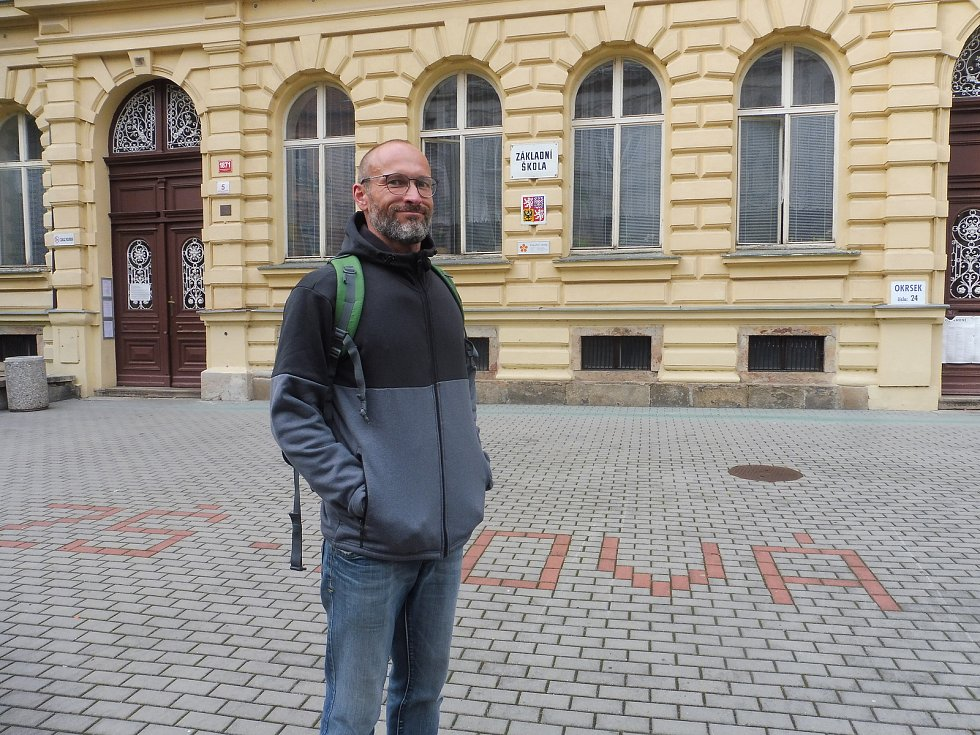 Volby na ZŠ Nová, České BudějoviceNa snímku Michal Klein