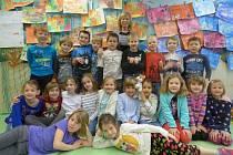 Prvňáčci ze Základní a Mateřské školy v Boršově nad Vltavou.