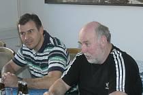 Vedoucí týmu František Knot a trenér Zdeněk Faber před nedělním šlágrem s Ústím nad Labem informovali novináře o tom, jak je Samson připraven.