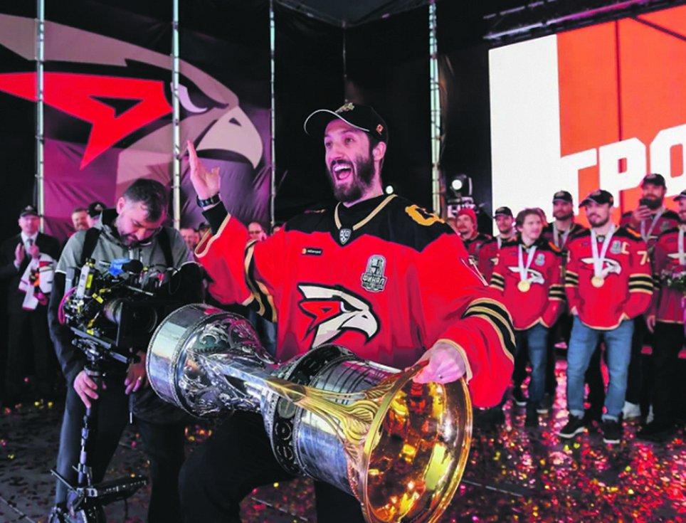 Jihočech Šimon Hrubec slaví triumf v KHL