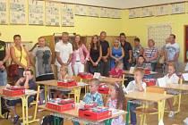 První školní den na Základní škole v Horní Stropnici.