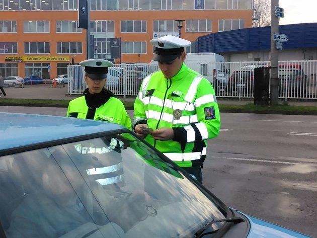 Kontrolu silničních vozidel ve čtvrtek prováděli policisté u českobudějovického výstaviště.