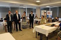 Mezinárodní šachový turnaj byl zahájen na začátku prázdnin v Českých Budějovicích.