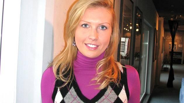 Olga Píšová. Finalistka z Jihočeské univerzity.