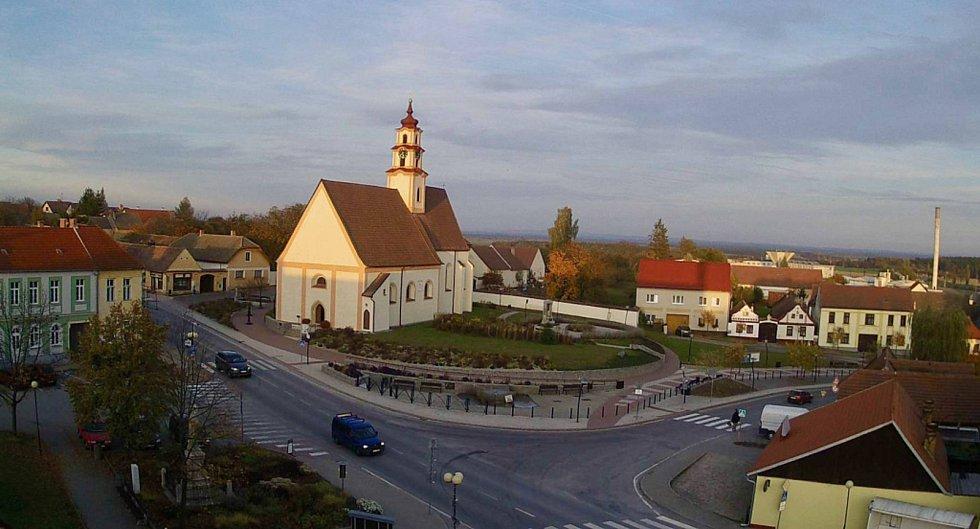 Městys Ševětín. Náměstí.