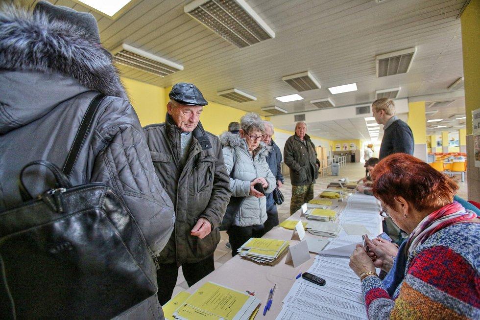 Volby v Suchém Vrbném u Českých Budějovic.