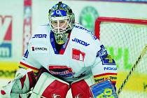 Brankář Roman Turek, hlavní trumf HC Mountfield pro play off.