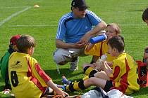 Trenér Martin Virostek povede na E.ON Cupu malé fotbalisty Strakonic.