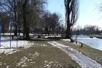 Řeka Malše v Českých Budějovicích.