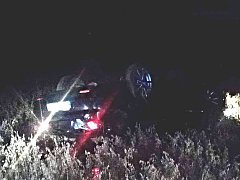 V neděli v noci havarovalo auto u Temelína.