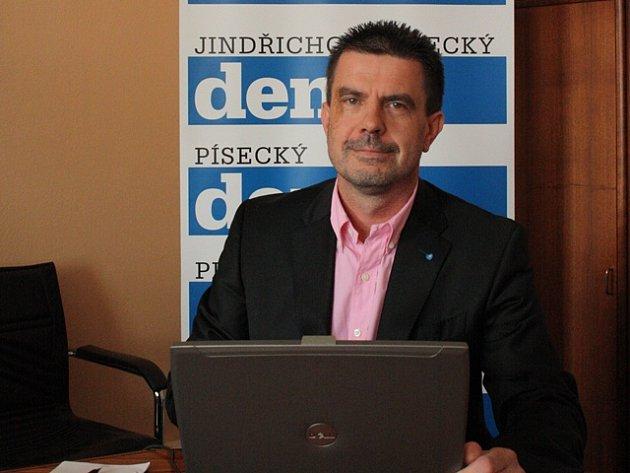 Michal Šebek v redakci Deníku.