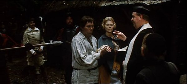 Jihočeský uhlíř Josef Bulík si bere jenu zdívek zVokova fraucimoru. Oddává ho jiný jihočeský herec František Kokejl.