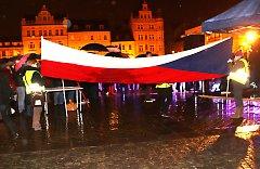 Pochod k 17.listopadu v Českých Budějovicích