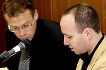 Libor Prášil u soudu (vpravo).