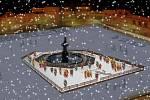 Srdce tržiště. Uprostřed náměstí zvýrazní od 1. prosince Samsonovu kašnu ledové kluziště. Bruslit můžete dokonce i na Štědrý den až do Tří králů.