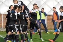 Radost dorostenců Dynama v zápase s baníkem (3:0) po vedoucím gólu Patrika Švantnera byla veliká.