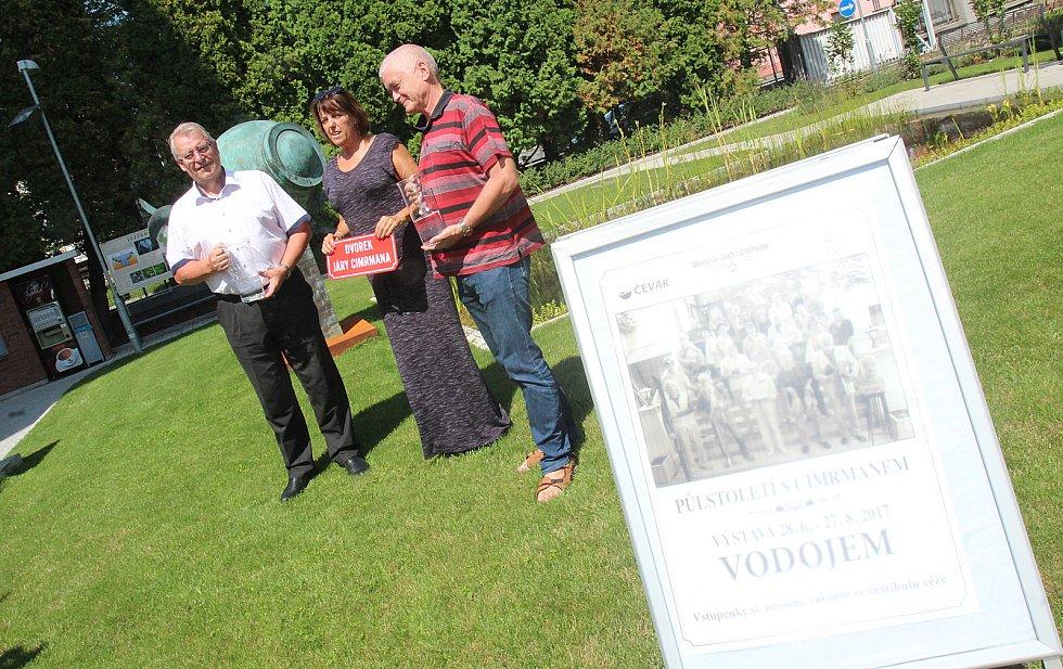 Dvorek Járy Cimrmana ve vodárně v Českých Budějovicích
