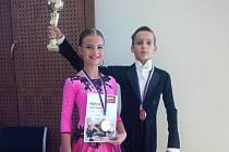 Pohár a medaili za první místo získal v září Michal Vojtík na soutěži ve Slaném společně s Ellen Musilovou.