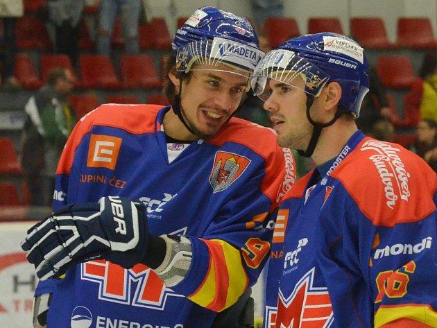Roman Vráblík (vlevo) s Martinem Heřmanem.