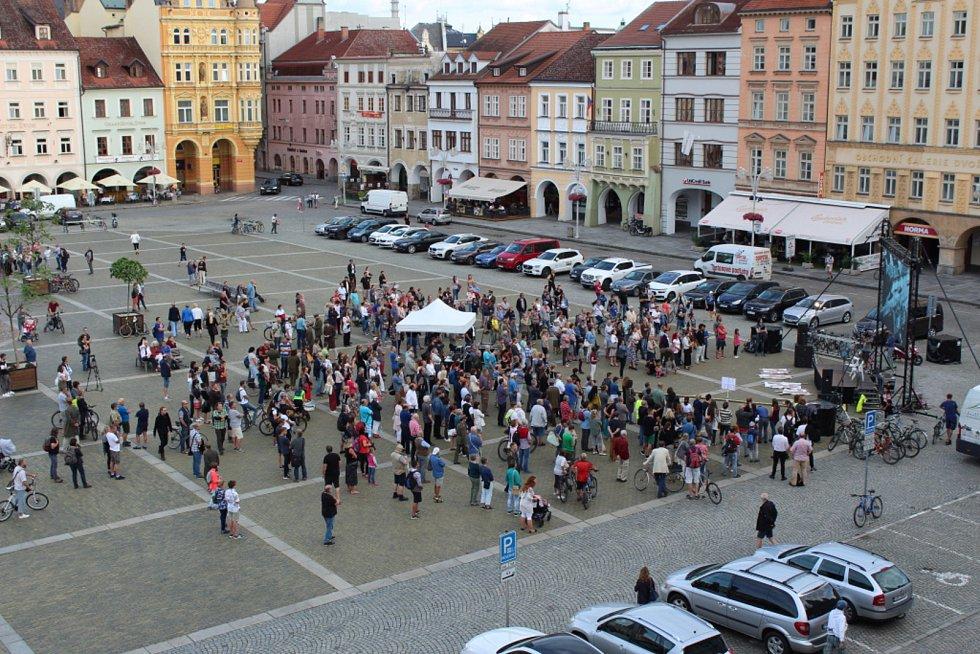 Připomínka událostí roku 1969 v Českých Budějovicích 21. srpna 2019.