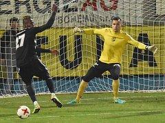 Elvis Mashike v zápase Dynama s Pardubicemi brankáře Knoblocha nepřekonal. V pátek hraje Dynamo přípravu se Žižkovem (11.00 Střelecký ostrov).