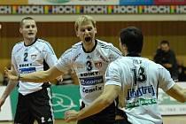 Jihostroj Č. Budějovice, zleva: Čajan, Mach a Fila