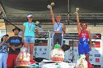 Petra Krejčová (vpravo) se opět úspěšně prezentovala na závodech v zahraničí.
