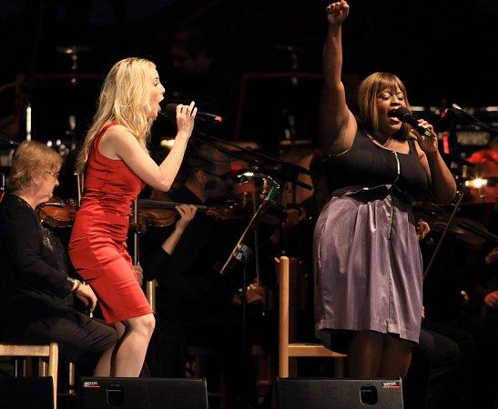 Sobotní koncert Broadway Rock na Mezinárodním hudebním festivalu vČeském Krumlově nabídl písně zmuzikálů iBeatles.