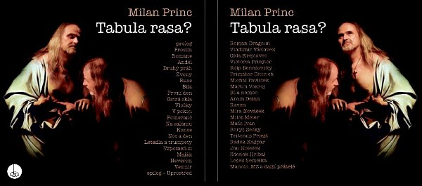 Obal desky Tabula rasa, kterou textař Milan Princ pokřtí 24.října vpíseckém Divadle Pod čarou.