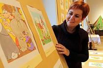 Výstava v Jihočeském muzeu připomíná výtvarníka a karikaturistu Jaroslava Kerlese.