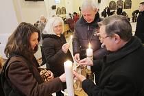 Betlémské světlo v Českých Budějovicích
