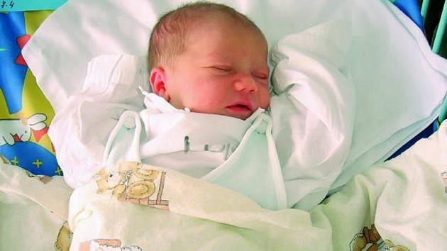 Jakub Princ, České Budějovice, 7. 4. 2009, ve 3.00 h, 3,31 kg